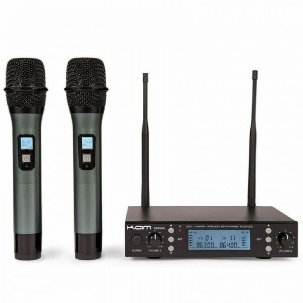 KAM UHF MULTI CHANNEL PROFESSIONAL WIRELESS MICROPHONE SYSTEM - KWM1940